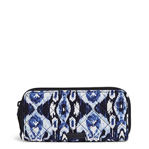 Vera Bradley women's Signature Cotton Bifold Wallet with RFID Protection, Ikat Island, One Size