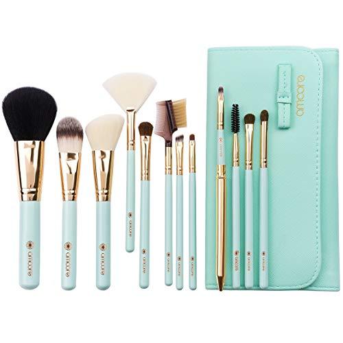 Perfect diary Brosse de Maquillage de Sac de Brosse de Maquillage de Brosse de Maquillage (12 unités, Vert) A ++ (Color : Green, Size : 12)