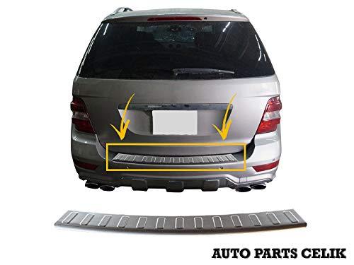 Protector de Parachoques Trasero de Acero Inoxidable Cromado para Mercedes Clase ML W164 SUV 2005-2011 (Cepillado)