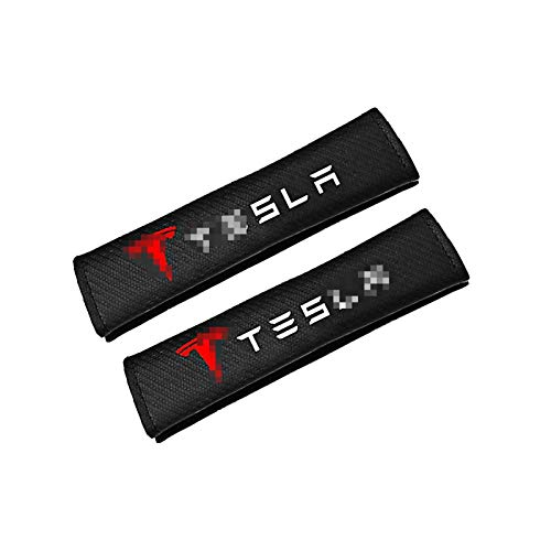 YZJC Seat Belt Cover Suitable For All Seasons, Carbon Fiber Car Seat Belt Protective Cover, Suitable For Tesla 3 S X