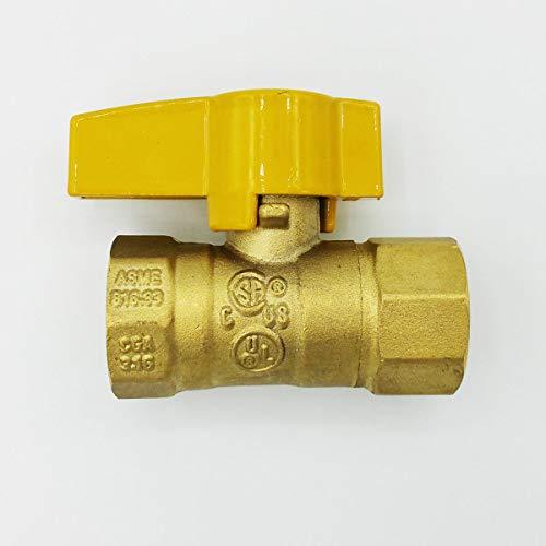 Cambridge Gas Line Connector Shut Off Valve 1/2-in FIP x 1/2-in FIP