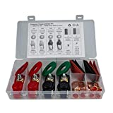 Piezas de automóviles MMGZ 2 Par de batería de Coche Cable Terminal Abrazaderas Conectores de la batería Clip de cableado de clasificación establecidos