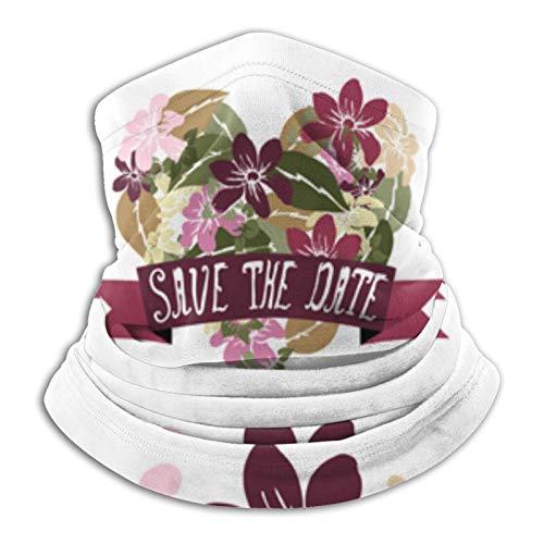 Towel&bag Floral Bouquets - Bufanda mágica para exteriores, color negro