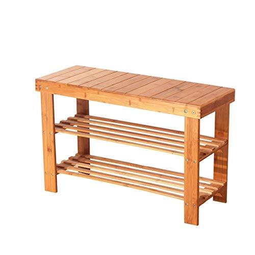 Zapatero de bambú de 3 niveles, organizador de almacenamiento de zapatos para entrada, pasillo, sala de estar y pasillo
