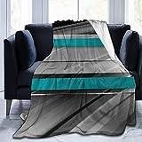 Jimbseo Manta de forro polar de franela azul y fondo de curva de Graphicriver Super suave y acogedora manta de cama mantas de 40 x 50 pulgadas Model586#