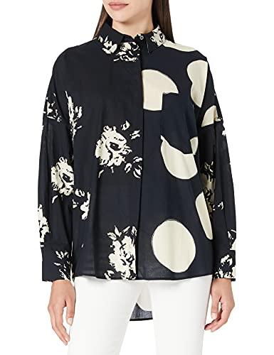 Desigual CAM_Nilo Camiseta, Negro, M para Mujer