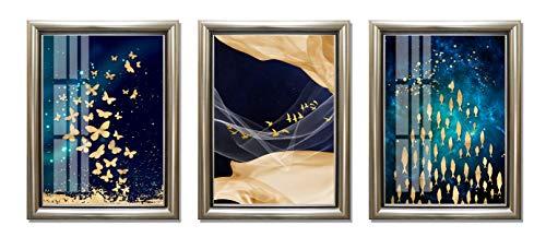 ABM Home - Cuadro de pared enmarcado, estilo vintage, lienzo enmarcado, póster grande, 21a, Frame A Classic Champagne