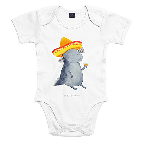 Mr. & Mrs. Panda Bodysuit, Babysuit, 3-6 Monate Baby Body Axolotl Tequila - Farbe Transparent