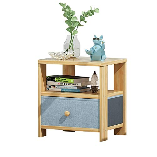 Stylish Simplicity Side Table Bedside Cabinet Nordic Simple Bedroom Storage Cabinet Floor Cabinet Small Nightstand for Bedroom, DTTX001, Natural, 35x30x40cm