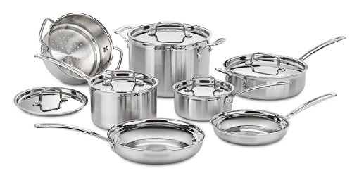 Amazon.com: Cuisinart MCP-12N Multiclad Pro Stainless Steel 12-Piece Cookware Set: Kitchen & Dining $209.99
