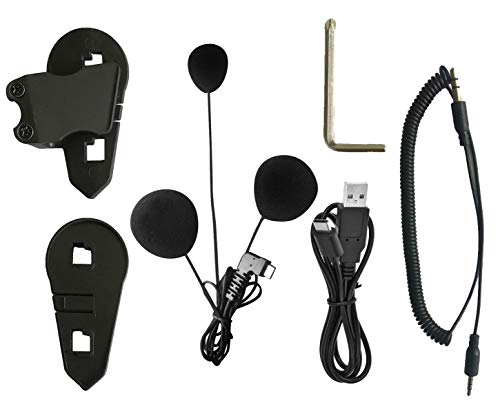 BT-S3 Type-C Interface Soft Microphone Earphone Accessories of Motorcycle Bluetooth Headset Intercom(Only Suitable for Full face Helmets)