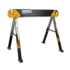 ✔️ CONVENIENT - Support arms adjust for different size wood ✔️ HEAVY DUTY - 1300 lb capacity each, 2600 lb per pair ; 1 sawhorse included ✔️ QUALITY - Material support pegs ✔️ ADJUSTABLE - Adjustable height legs ✔️ DURABLE - Powder coating and zinc-p...