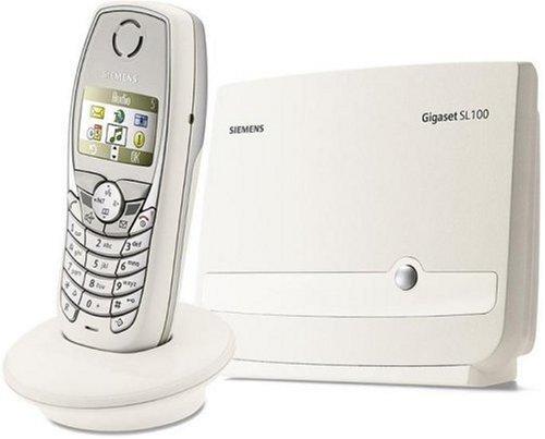 Siemens Gigaset SL100 Colour weiss--metallic, Schnurlostelefon DECT