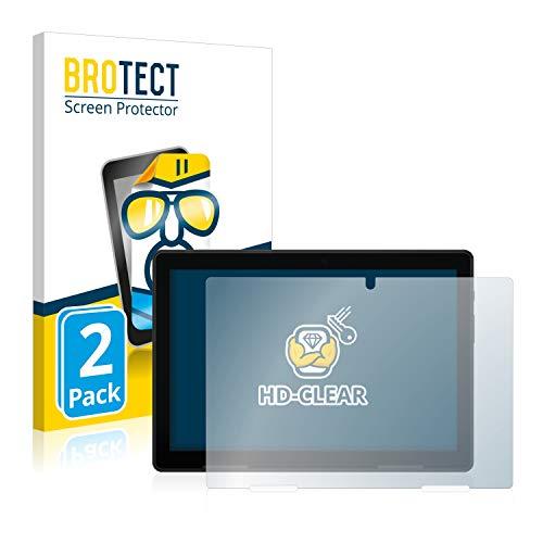 BROTECT Schutzfolie kompatibel mit Medion Lifetab P10710 (2 Stück) klare Bildschirmschutz-Folie