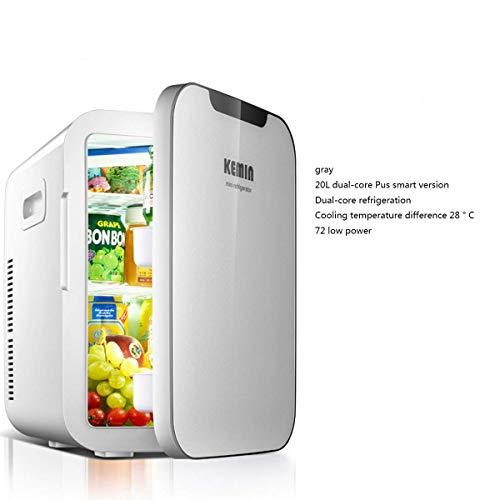 WZB kühlschrank Mini mit DualCoreSmartDisplay, 20 l kompaktem und tragbarem Kühlschrank Netz und Gleichstromkabel 100{b468822036c25571b436933f7238a26ecdd92cbd66aa67cf5f4f1ab282196550} freonfrei und umweltfreundlich, 9