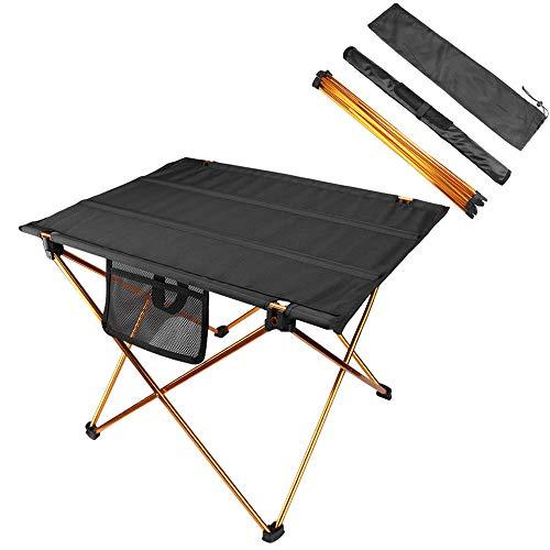 MAGARROW Outdoor Leichter Kleiner klappbarer Camping-AngeltischOutdoor Tische Leichter Kleiner klappbarer Camping-Angeltisch (Gold)