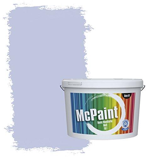 McPaint Bunte Wandfarbe matt für Innen Flieder 2,5 Liter - Weitere Blaue Farbtöne Erhältlich - Weitere Größen Verfügbar