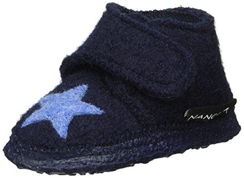 Nanga Baby Babyhausschuh Stern dunkelblau 26
