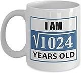 Thorea 1986 Tasses d'anniversaire pour Hommes drôles - Racine carrée de 1024-32 Ans...