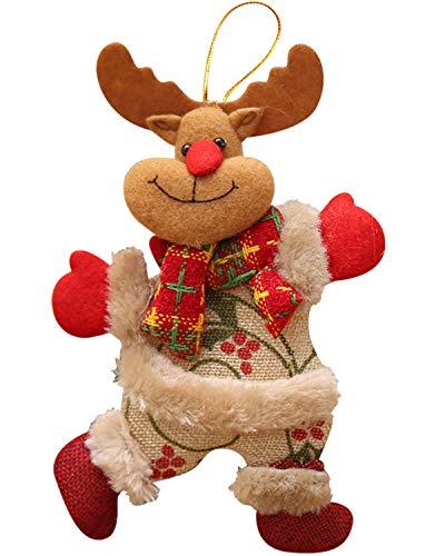 heekpek Ornamenti Natalizi Decorazioni Decorazioni Natalizie da Appendere Babbo Natale Pupazzo di Neve Renna Bambola per Albero di Natale Tavolo con Ciondolo Camino Vacanze