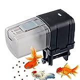 Comedero de Peces Automáticos, Holzsammlung Automático de Peces Inteligente Alimentador de Tiempo para Acuarios Dispensador de Comida de Pescado para Fines de Semana