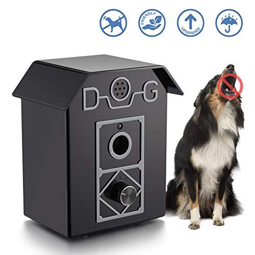 Dispositivo Antiladridos, Collar Ultrasónico Anti-Ladridos,Dispositivo para Controlar los Ladridos para el Exterior a Prueba de Agua, Seguro para Perros