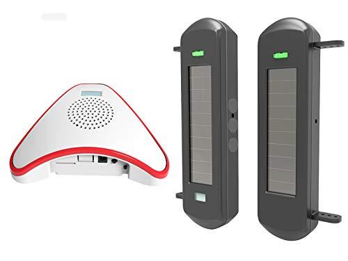 HTZSAFE Solar Wireless Driveway Alarm System- 1/2 Mile Long Transmission Range- 300 Feet Wide Sensor...