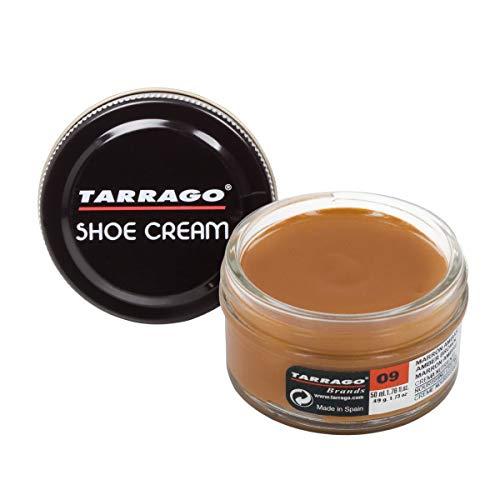 Tarrago Unisex, Crema per Calzature; Barattolo da 50ml; trattamenti e smalti per Scarpe, Marrone (Brown (Amber Brown 09)), M-L