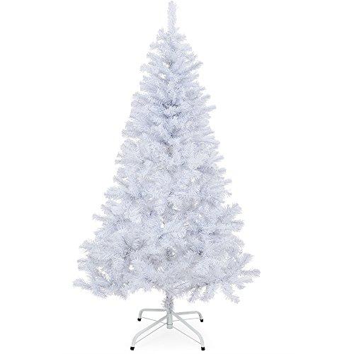 Invernale albero di Natale artificiale 150 cm - 180 cm bianco con supporto
