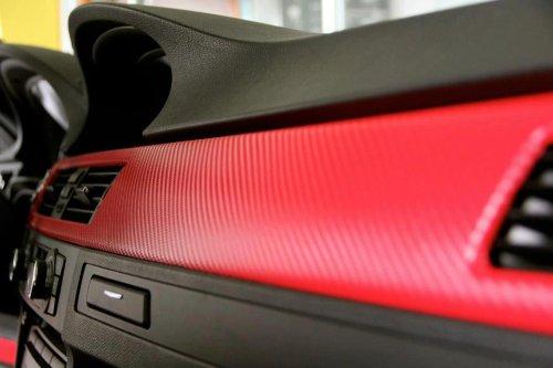 Rwraps 4D RED Carbon Fiber 5ft x 1ft W//Application Card Vinyl Vehicle Car Wrap Film Sheet Roll