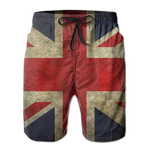 Pantalones cortos para hombre con bandera británica Vintage del Reino Unido,traje de baño de secado rápido,pantalones cortos deportivos para fiestas en la playa,pantalones cortos para correr,pantalone