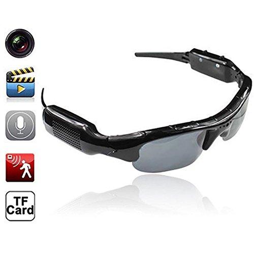 axusndas Gafas para cámara Oculta, Lentes de cámara espía Oculta, Alta definición (HD), 720p