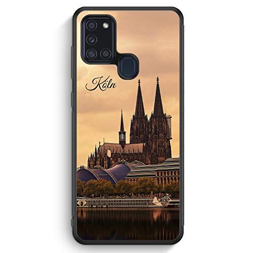 Panorama Köln Kölner Dom - Silikon Hülle für Samsung Galaxy A21s - Motiv Design Skyline Silhouette Schön - Cover Handyhülle Schutzhülle Case Schale
