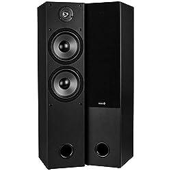 powerful Pair of Dayton Audio T652 6-1 / 2 inch 2-way 2-way tower speakers