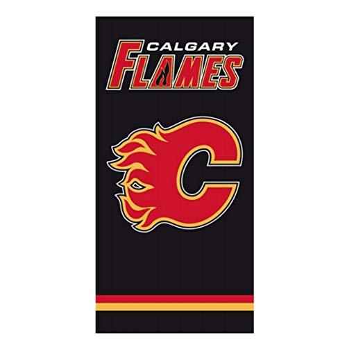 Calgary Flames Duschtuch - Badetuch - NHL Fanartikel