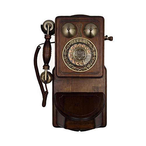 KISlink Antike Wand Schnurgebundene Telefon Retro Deluxe Telefon Festnetztelefon Für Office Home Wohnzimmer Cafe Bar Fenster Dekoration Wohnkultur Wunderbares Geschenk
