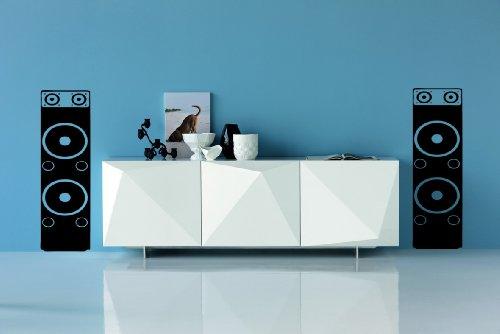 Preisvergleich Produktbild Wohnzimmer Schlafzimmer Lautsprecher Musik wall art Decals X 2 Vinyl Graphics marineblau