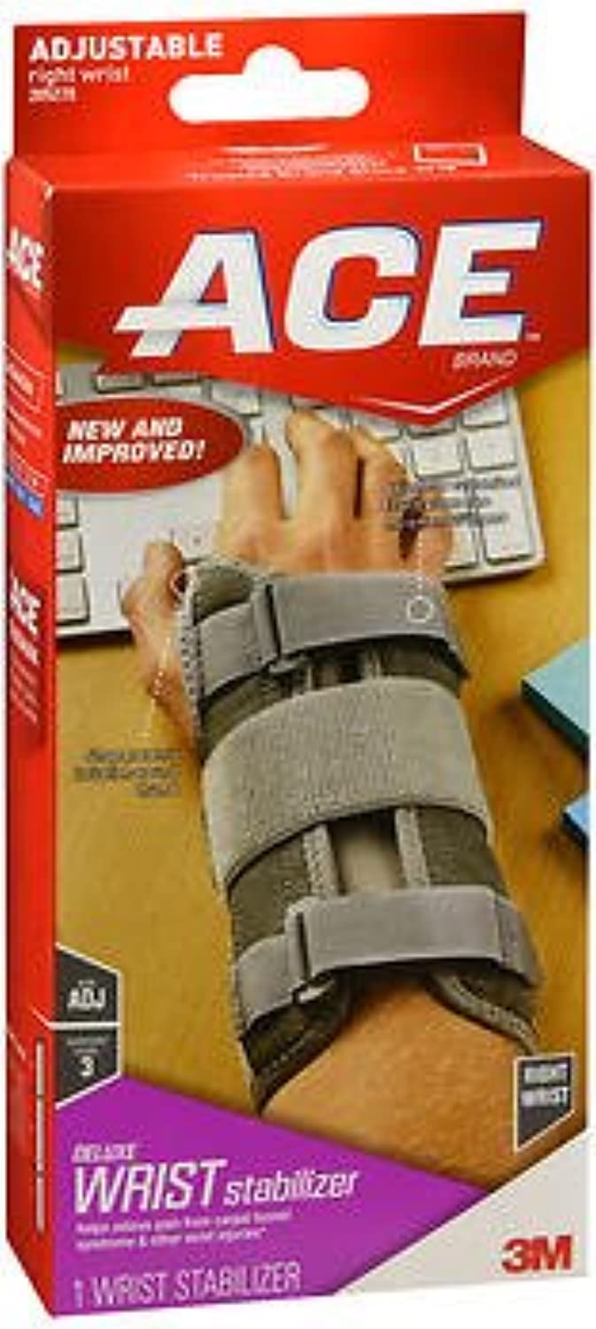 Ace Dlx Wrist Brace Right Osfa (Pack of 3)