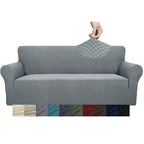 YUUHUM - Funda elástica para sofá con diseño creativo, 1 unidad, para 2 cojines de sofá, sala de estar, mascota, perro, funda elástica con varillas de espuma antideslizante...