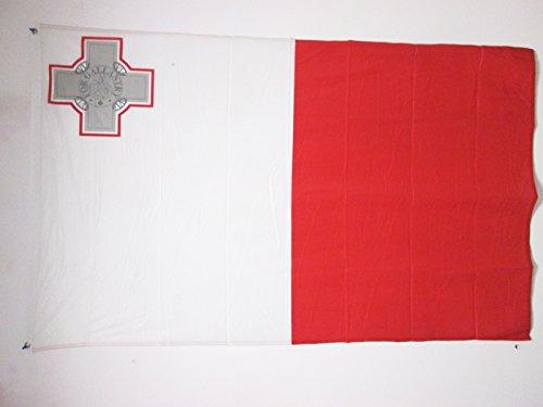 AZ FLAG Flagge Malta 150x90cm - Republik Malta Fahne 90 x 150 cm Aussenverwendung Metallösen - flaggen Top Qualität