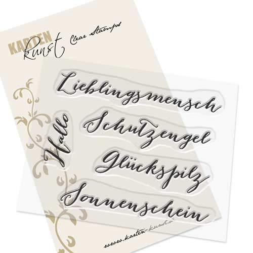 Clear Stamp-Set Stempel-Gummi - Karten-Kunst Große Worte Lieblingsmensch