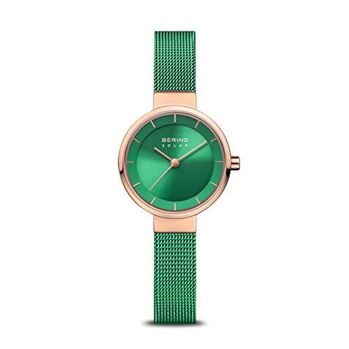 BERING Reloj Analógico Charity Collection para Mujer de Energía Solar con Correa en Acero Inoxidable y Cristal de Zafiro 14627-Charity