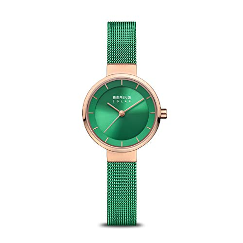 BERING Damen Analog Solar Uhr mit Edelstahl Armband 14627-Charity