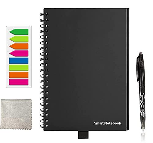 GUYUCOM Cuaderno Reutilizable B5, Cuaderno Inteligente, Cuaderno Digital con Bolígrafo Borrable y Limpie para el Almacenamiento Rápido de la Nube del Boceto y la Reutilización Infinitamente.