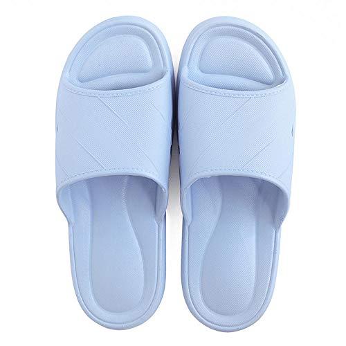HUSHUI Suela De Espuma Suave Zapatos De Piscina,Pantuflas de Suela Blanda para el hogar de Interior, Sandalias de Pareja en baño-Azul Claro_38-39,Zapatillas de Piscina Antideslizantes Unisex