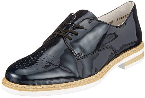 Rieker N0413, Zapatos de Cordones Derby para Mujer, Azul (Marine), 40 EU