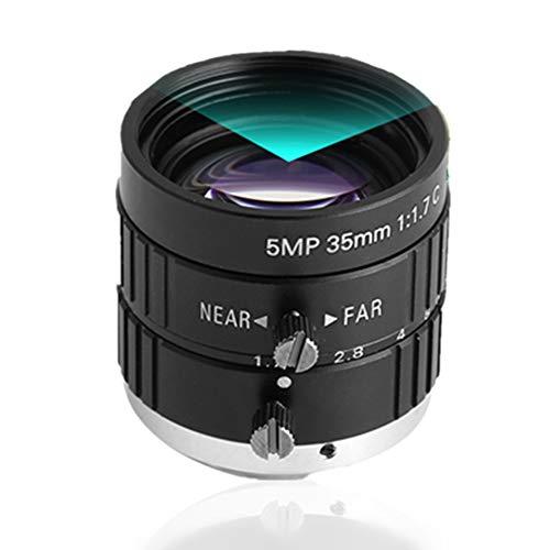 Obiettivo di sicurezza per fotocamera, obiettivo di ricambio, 35 mm, 5 mp, obiettivo 2/3 a apertura manuale per montaggio CCTV per telecamera di videosorveglianza.
