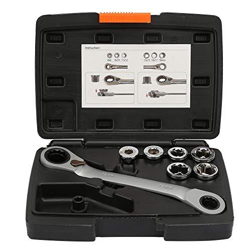 Llave de trinquete, juego de enchufes multifuncionales Llave de trinquete Destornillador Kit de reparación profesional Herramienta de mano