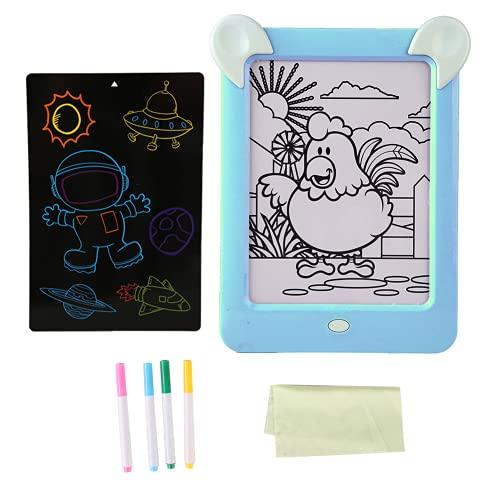 Jacksing Juguete de Tablero de Dibujo, Tablero de Dibujo mágico Resistente al Desgaste, para bebé(Blue)