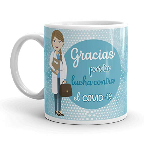 Kembilove. Tazas Desayuno Originales para Médica – Taza de café de Agradecimiento para Médicas Que lucharon en Ayudar a la Gente – Regalos Originales para Médica